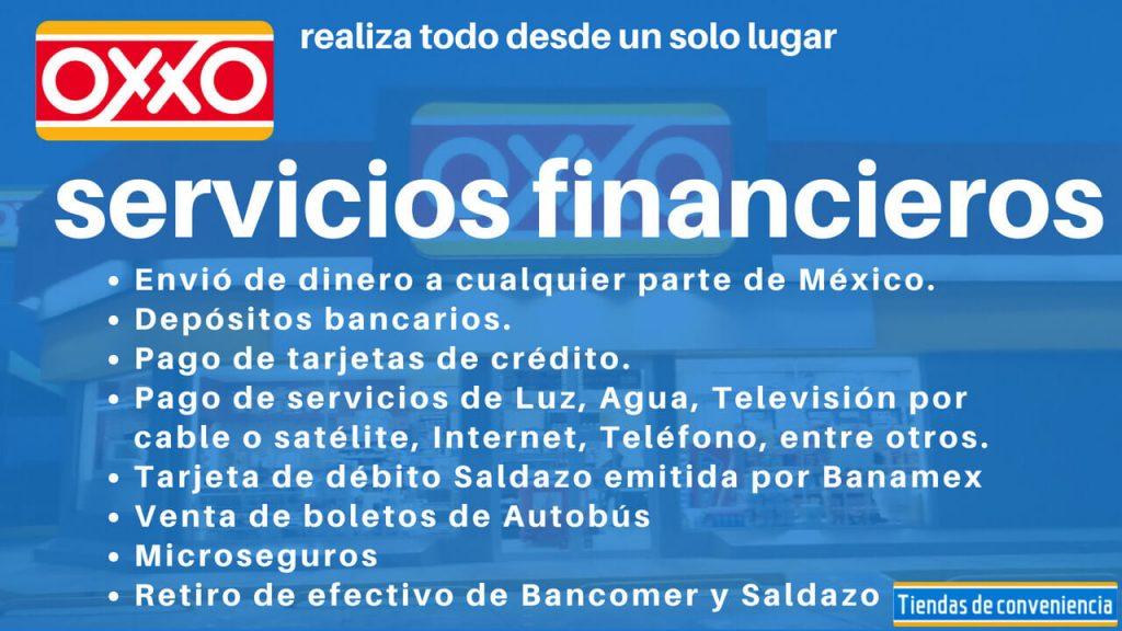 servicios financieros que ofrecen en oxxo