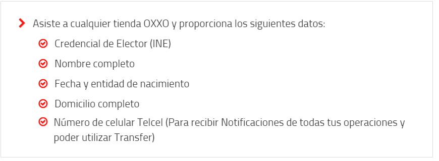 Saldazo OXXO Requisitos