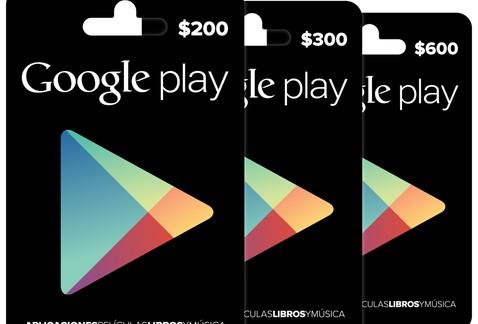 Tarjetas Gift Card de Google Play