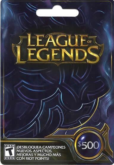Tarjetas Gift Card de League of Legends