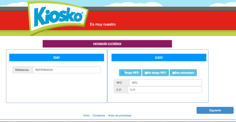 datos ticket kiosko factura Tiendas Kiosko