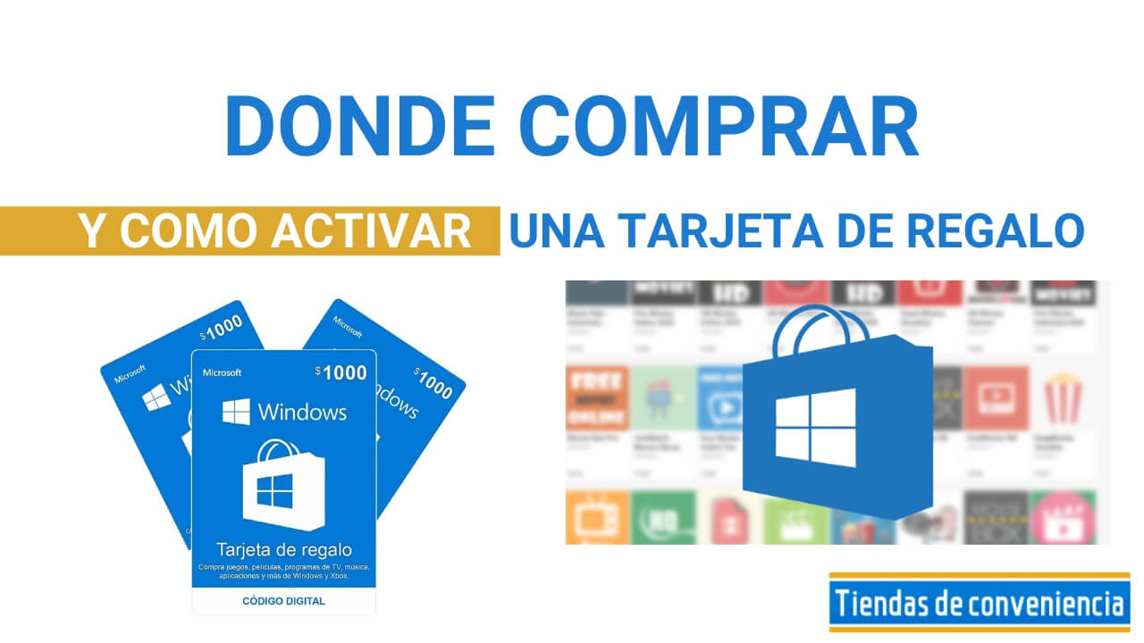 como activar tarjeta regalo windows store