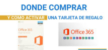 tarjetas regalo office 360 Productos