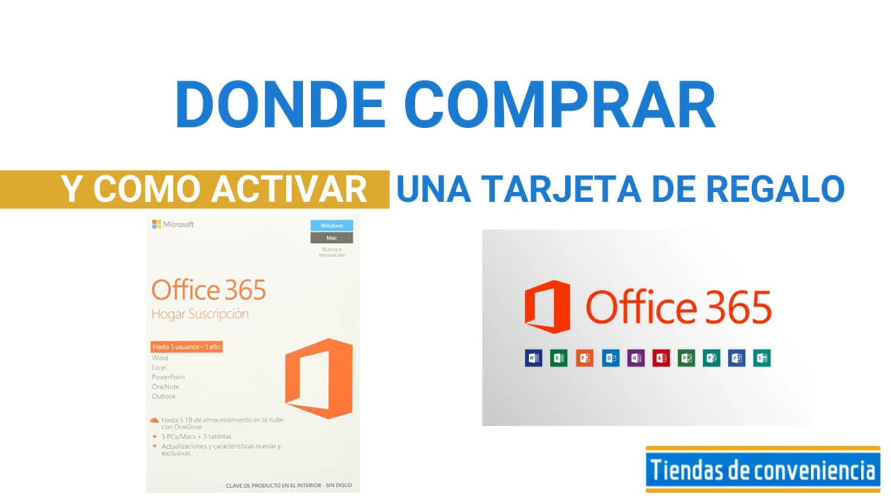 Tarjetas de Regalo Office 365