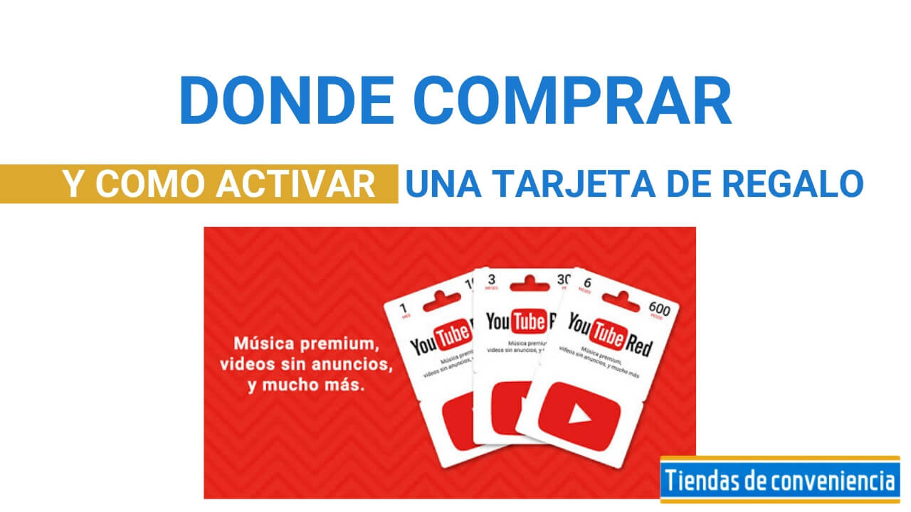Tarjetas de regalo Youtube Red Productos