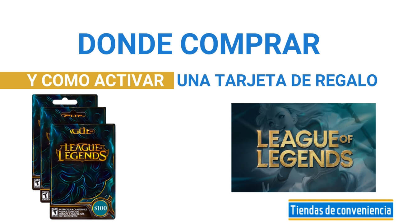 tarjetas regalo League of Legends Productos